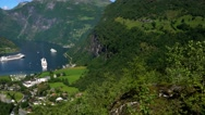 Geiranger fjord, Norway. Stock Footage