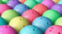 Close up on Array of Tightly Packed, Colorful Bowling Balls Stock Illustration