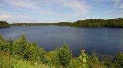 Roshinsky lake in Lodeinopolsky area in Russia Stock Footage