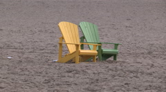End of summer at Toronto eastern beach Stock Footage