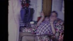 1961: christmas day SALTON SEA, CALIFORNIA Stock Footage