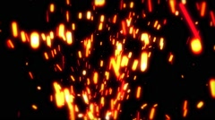 Sparks Fly Away in the Dark Stock Footage