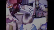 1961: first christmas for baby SALTON SEA, CALIFORNIA Stock Footage