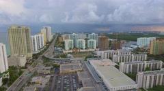 Aerial videoSunny Isles 163rd Street overpass Stock Footage