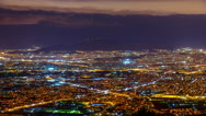 4K Athens from above,establishing shot,night timelapse Stock Footage