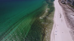 Florida barrier island beach Stock Footage