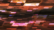 Twinkling Horizontal Slant Hi-Tech Small Bars, Orange, Abstract, Loopable, 4K Stock Footage