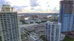 Aerial sunny isles Florida USA Stock Footage