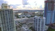 Aerial sunny isles Florida USA Stock Footage