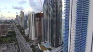 Sunny Isles Florida condominiums 4k Stock Footage