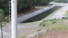 Sewer water system with pipes and dam Stock Footage