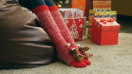 Funny Christmas socks Stock Footage