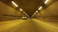 Driving Car Mount Time Lapse through Caldecott Tunnel in California. Stock Footage