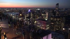 Top of the Rock viewing platform, New York, looking north west. Stock Footage