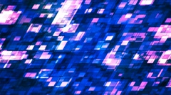 Broadcast Twinkling Slant Hi-Tech Squares, Blue, Abstract, Loopable, 4K Stock Footage