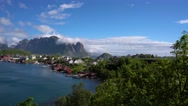 Lofoten archipelago islands Stock Footage