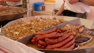 Food market. Street food. Fast food Stock Footage