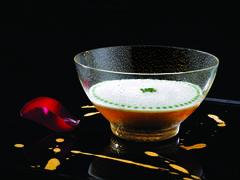 Oscetra caviar smooth cauliflower in gelee Stock Photos