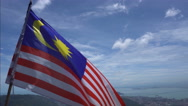 Waving Malaysian flag Stock Footage