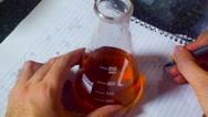 Chemistry flask math mathematics work Stock Footage