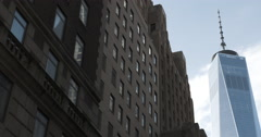 World Trad Center - New York City - establishing shot - 4k Stock Footage
