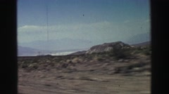 1969: road trip through the desert YOSEMITE, CALIFORNIA Stock Footage