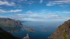 Lofoten archipelago islands Aerial footage Stock Footage