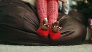 Funny Christmas socks Stock Footage