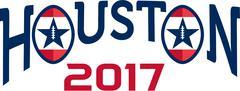 American Football Houston 2017 Word Retro Stock Illustration