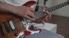 Song Rehearsal at Home Stock Footage