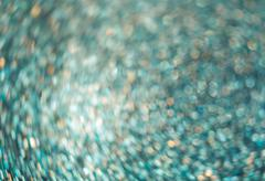 Defocused abstract cyan lights background Stock Photos