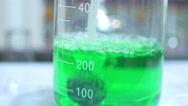 4K chemical solution pharmetutical drug creation chemistry Stock Footage