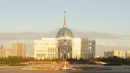 Akorda Presidential Palace at sunset. Astana, Kazakhstan. Time Lapse Stock Footage