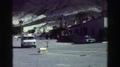 1969: vehicles park at owners risk make sure to turn  Stock Footage