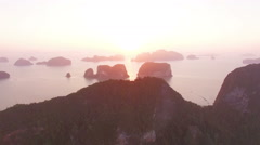 On the hill top Samed Nang Nang She view  point Stock Footage
