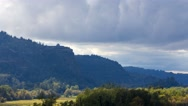 Moving clouds over Crown Point along Columbia Gorge in Oregon 4k time lapse uhd Stock Footage