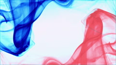 French flag formed with blue, red smoke white background - France background Stock Footage