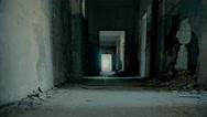 Abandoned long corridor/hallway,dolly, motion control slider. Stock Footage