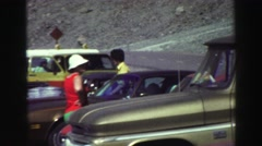 1969: a picnic in a forest area is seen YOSEMITE, CALIFORNIA Stock Footage
