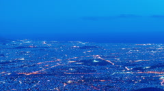 Athens city skyline, panorama, dusk to night post panning timelapse Stock Footage