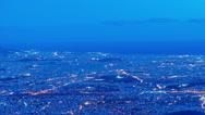 Athens city skyline, panorama, dusk to night post panning timelapse Stock Footage
