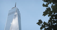 World Trade Center - Wide Angle - New York City - 4k Stock Footage