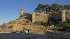 City walls in Tossa de Mar, Spain Stock Footage