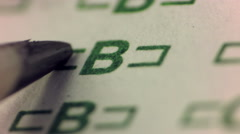 Test Answer B - Write and Erase Stock Footage