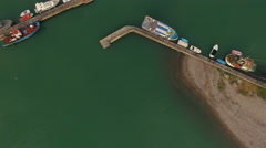 Aerial view of port. Stock Footage