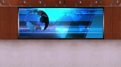 News TV Studio Set 231- Virtual Green Screen Background Loop Stock Footage