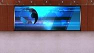 News TV Studio Set 231- Virtual Green Screen Background Loop Stock Footage