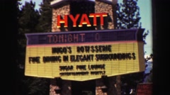 1969: sign advertises elegant event  Stock Footage