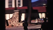 1969: a restaurant in the mountains YOSEMITE, CALIFORNIA Stock Footage