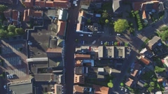 Aerial small town in Holland look down,Gennep,Netherlands Stock Footage